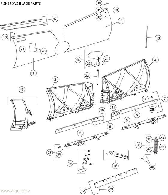 XV2BladeComp fisher snow plow xv2 blade parts