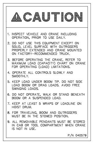 Auto Crane Parts