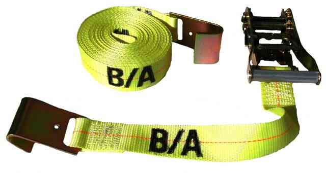 4IN x 30FT Tie Down Strap with Flat Hooks