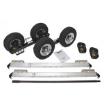 In The Ditch Speed Dolly Complete Set Zinc Finish Aluminum Wheels