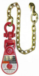 "GUNNEBO 2T/3"" BLOCK w/SHACKLE & CHAIN 6-1SW30"