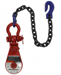 GUNNEBO 4T BLOCK w/SHACKLE & CHAIN 6-2SW30