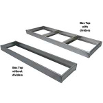 "In The Ditch 60"" X 16"" Aluminum Box Tray w/Dividers ITD1098-D"