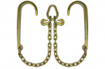 G70 V-CHAIN 15in J HOOKS-2ft LEGS