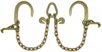 G70 V-CHAIN 8in J HOOKS & T HOOKS-2ft LEGS