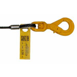 3/8 x 75 Winch Wire Rope / Cable - Steel Core Self Locking Hook