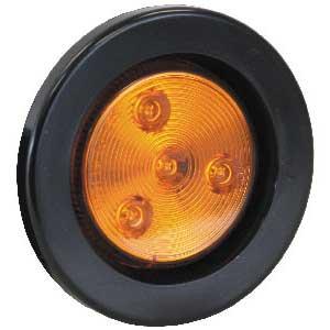 LIGHT 2.5in RD MARKER 4 LED AMBER