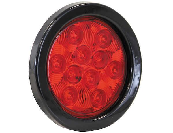 LIGHT 4in ROUND STT 10 LED RED