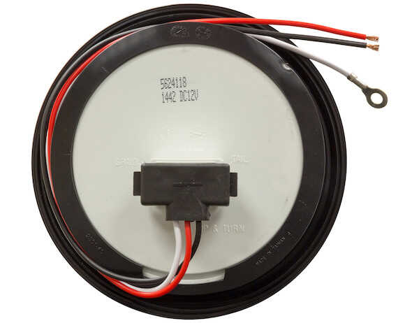 4in ROUND STT 18 LED LIGHT RED W/GOMMET                                    2