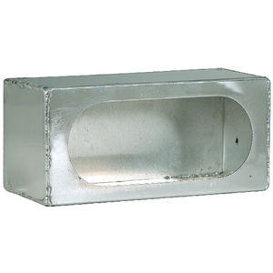 BUYERS LIGHT BOX SINGLE OVAL 3X8X3 ALUMINUM .050