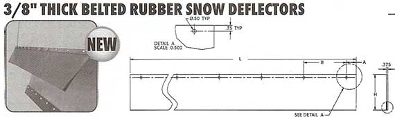 rubber deflector SPECIFICATIONS FOR SNOW PLOWS
