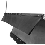 Snow Deflector 46in Rubber V-Plow