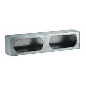 LIGHT BOX DUAL OVAL 3X16X3 ALUMINUM .050 LB3163ALSM