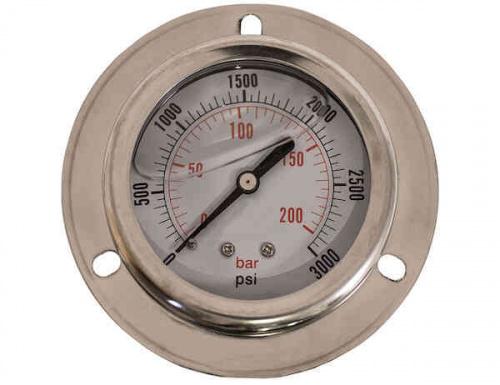 PRESSURE GAUGE 2-1/2in DIAL 0-3000 PSI