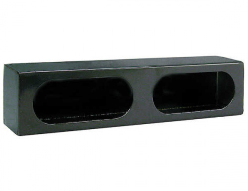 LIGHT BOX DUAL OVAL 3X16X3in BLACK LB3163