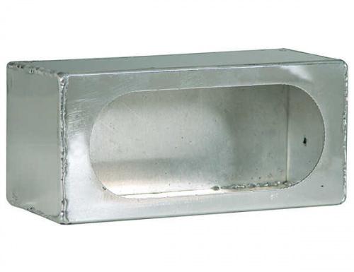 BUYERS LIGHT BOX SINGLE OVAL 3X8X3 ALUMINUM .050