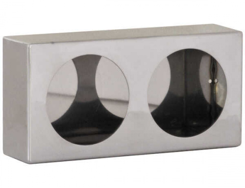 BUYERS LIGHT BOX DOUBLE ROUND 6X12X3 STAINLESS STEEL
