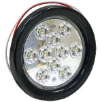 LIGHT 4in RD BACK-UP 10 LED CLEAR