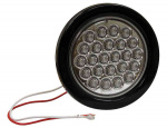 LIGHT 4in ROUND,BACK-UP 24 LED CLEAR