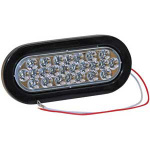 LIGHT 6.5in OVAL BACK-UP 24 LED CLEAR