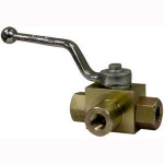 HBV3W025 BALL VALVE 3 WAY 1/4in 5800 PSI