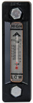 GAUGE-OIL LEVEL W/THERMOMETER ALUMINUM