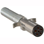 Trailer Connector Metal 6-Pin Round Trailer End