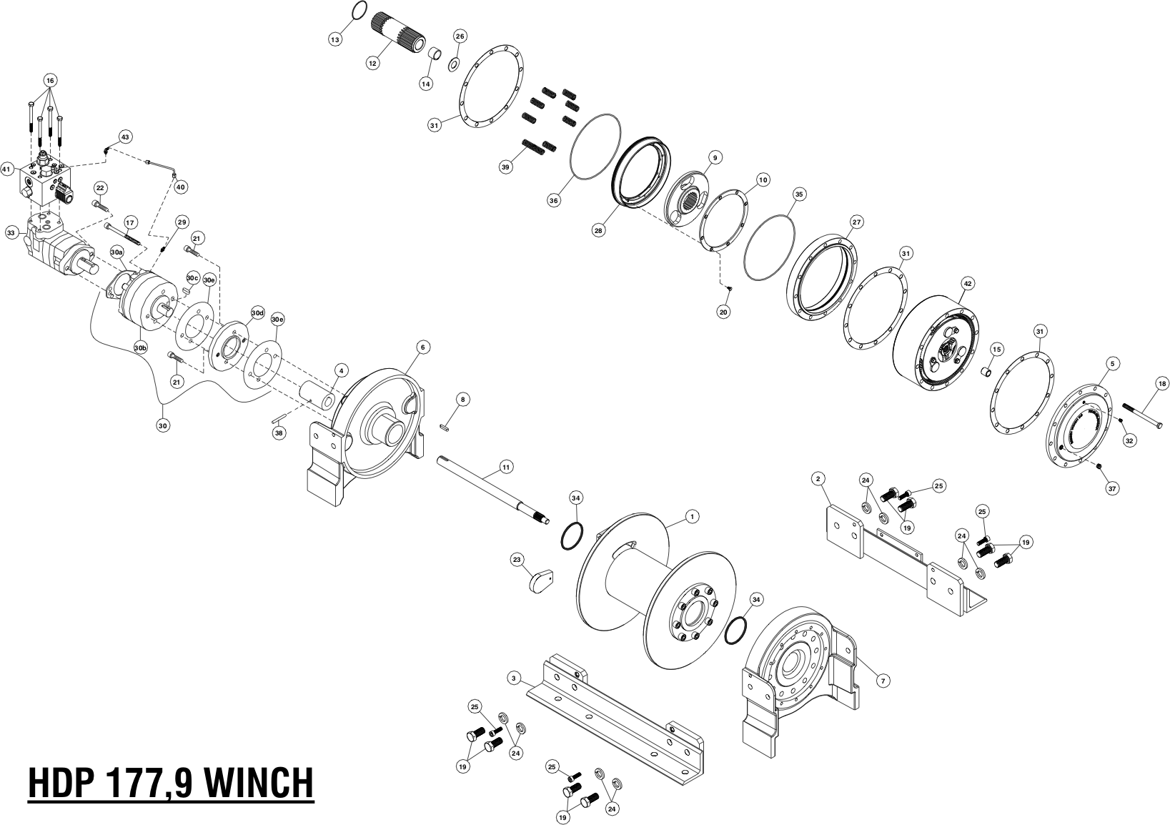 Ramsey Winch HDP-177,9 Parts Diagram