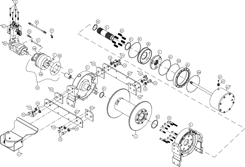 Ramsey Winch HDP-35000 Parts Diagram