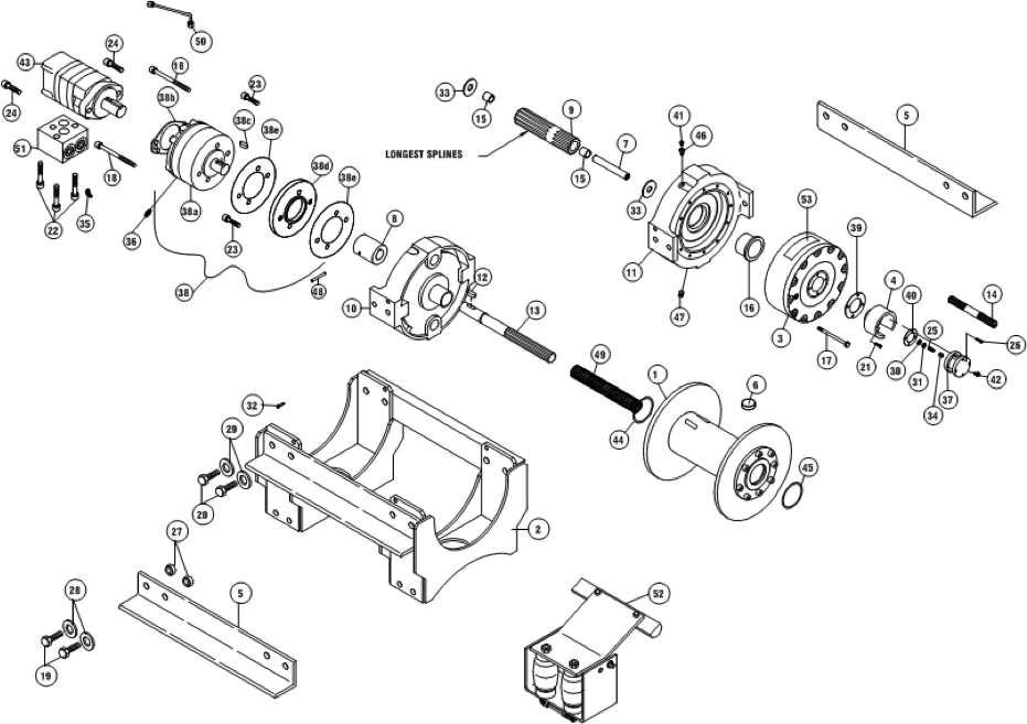 Ramsey Winch RPH-133,4 Parts Diagram