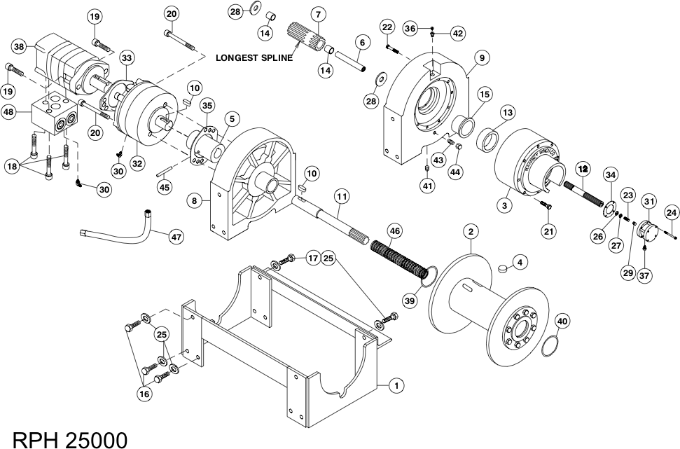 Ramsey Winch RPH-25000 Parts Diagram