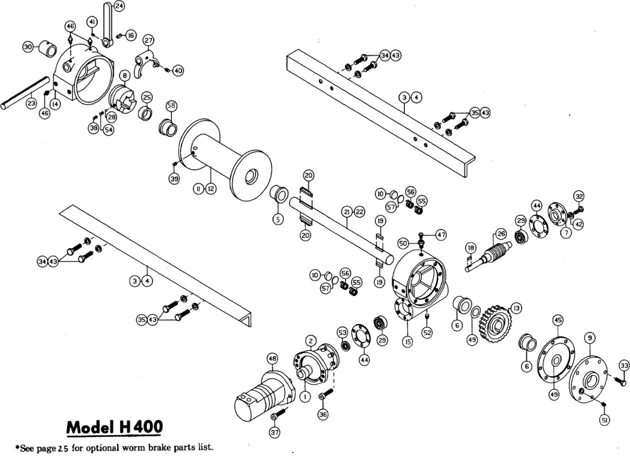 Ramsey Winch Hydraulic H-400 Series Parts (H/G/Y 400)