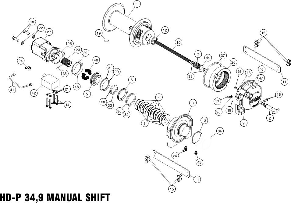 Ramsey Winch HDP 349 Parts Diagram