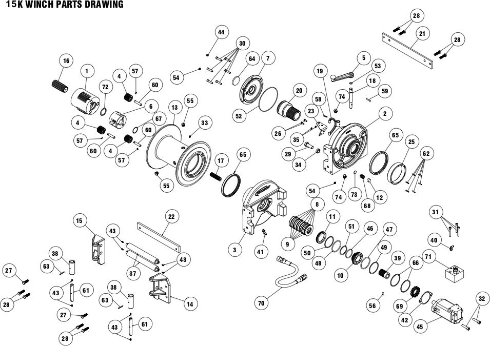 Ramsey Winch Powermaster 15000 Parts