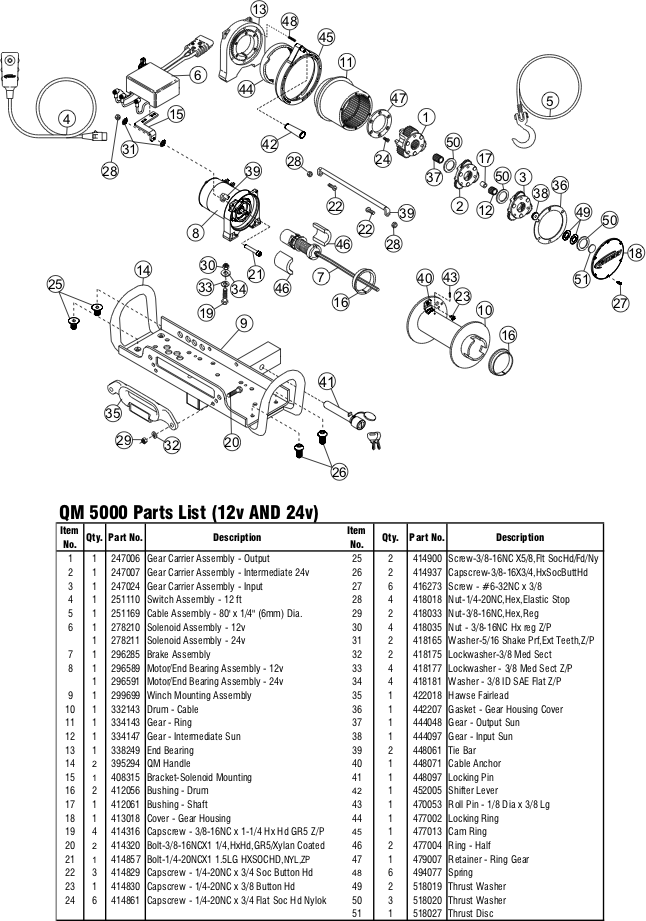 qm-5000-diagram1 Ramsey Pro Winch Wiring Diagram on dia for rep 5000,