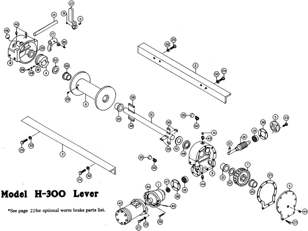 Ramsey Winch Hydraulic 300 Series Parts  H  Y 300  346