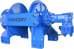 Ramsey Winch WINCH-HERC 50000, LH, FAB DRUM, 2 SPD, 12V, HIGH ANGLE AIR ROLLER TENSIONER