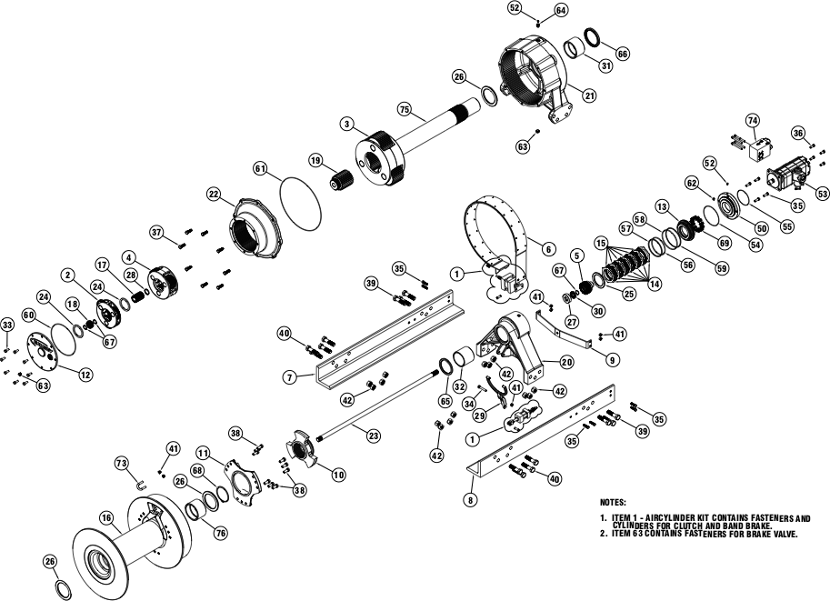 Ramsey Winch Wildcat WC 105R Parts Diagram