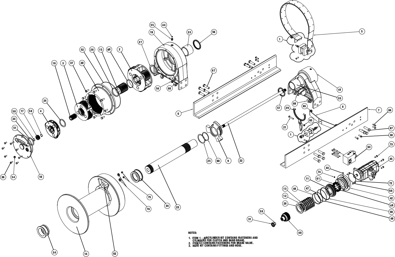 Ramsey Winch Wildcat WC 85R Parts Diagram