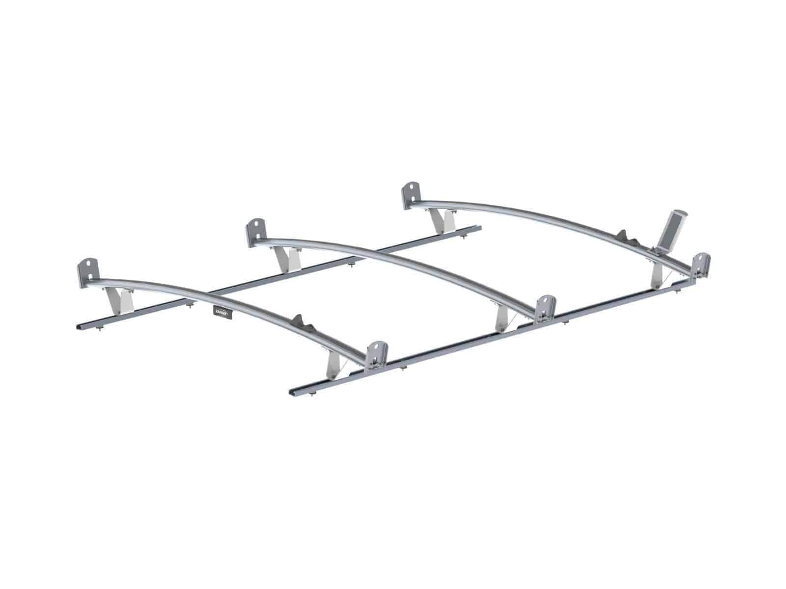 standard ladder rack  aluminum  3 bar  ford transit lwb