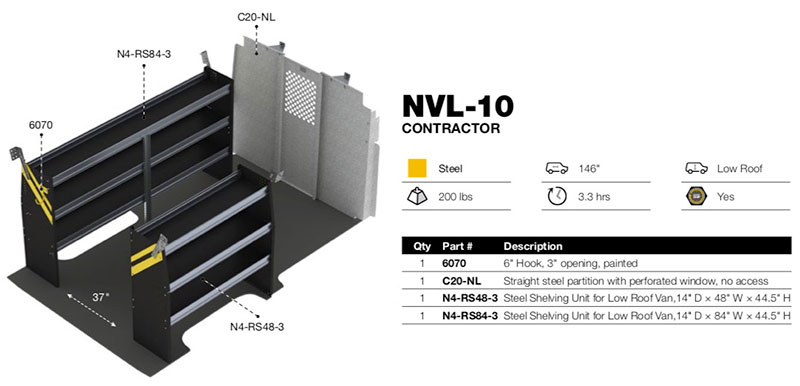 Contractor Package Nissan Nv Low Roof