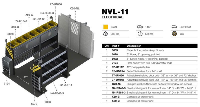 Electrical Package Nissan Nv Low Roof