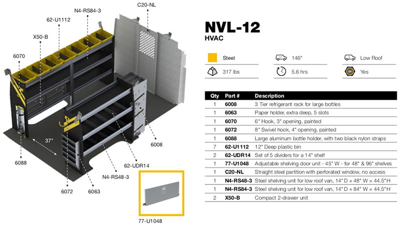 Hvac Package Nissan Nv Low Roof