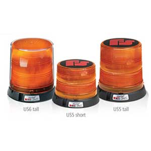 Amber Federal Signal 250141-02 Class 1 UltraStar US5 Strobe Beacon Magnetic Mount with Tall Dome