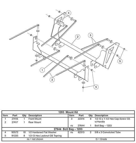 1203 mount kit