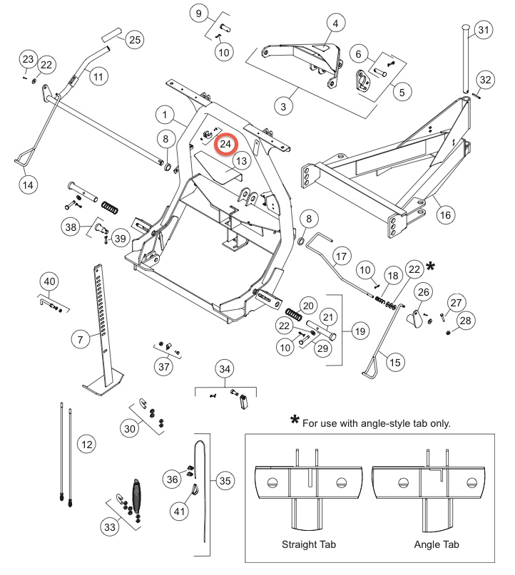 27162 STOP LINK KIT DIAGRAM FISHER SNOW PLOW