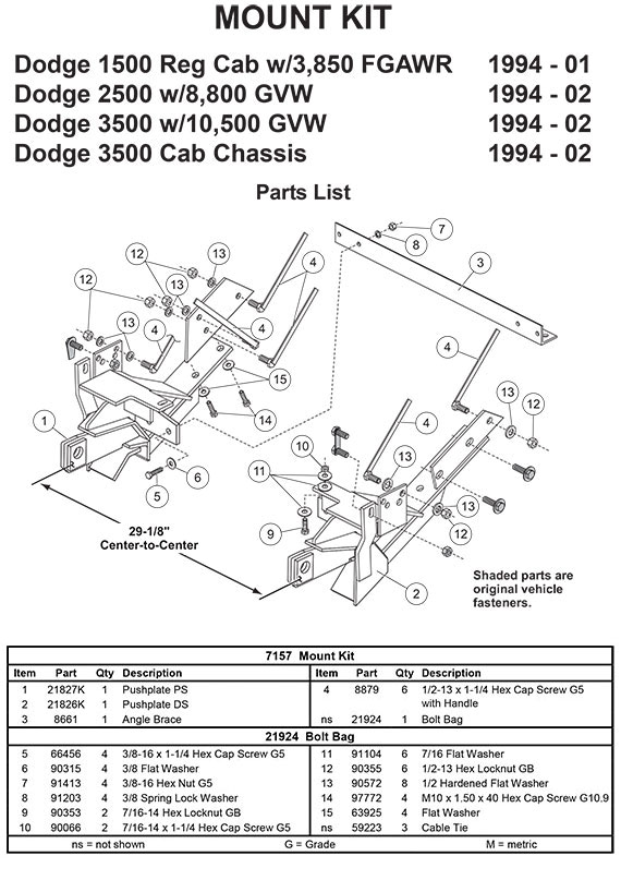 7157 Fisher Minute Mount 2 Kit Mm Dodge 1500