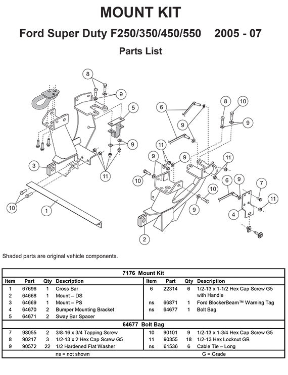 7176 fisher mount kit minutemount ford f250sd 550s fisher plow wiring schematic at edmiracle.co
