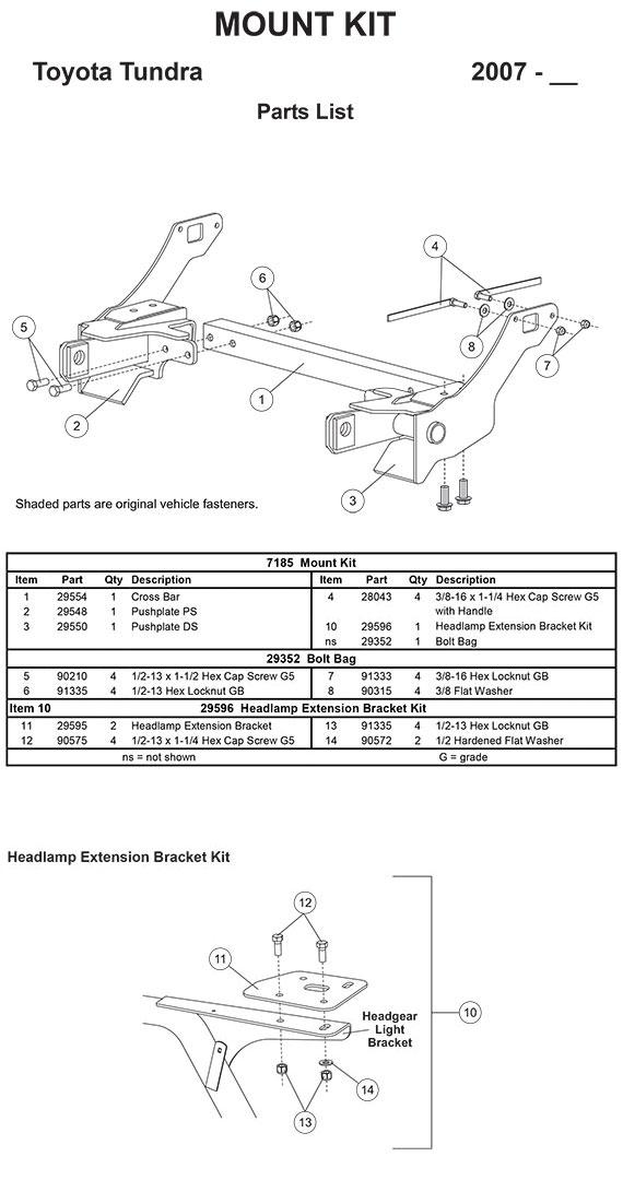 7185 7185 fisher mount kit minutemount toyota tundra 2007 2017 Toyota Wiring Harness Diagram at bayanpartner.co