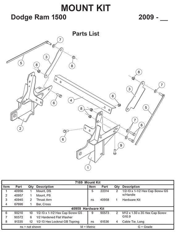 7189 mount kit